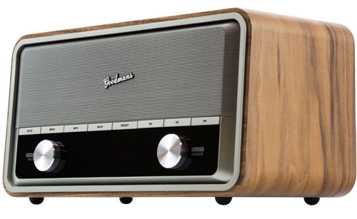 Goodmans Heritage II Connect retro-style radio