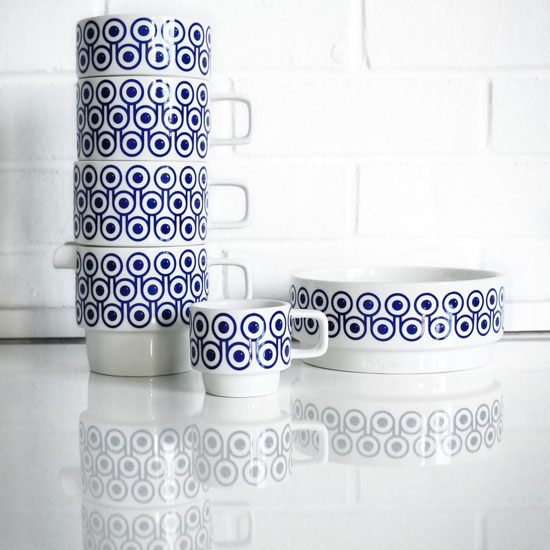 1970s-style Hokolo stackable ceramics at Make International