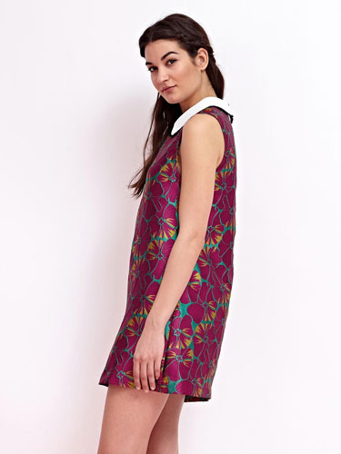 1960s-style Flowerchild Jacquard Dress at Sister Jane
