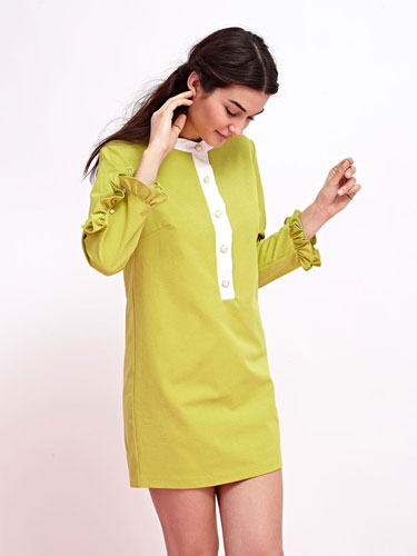 1960s-inspired Lime Crime Shift Dress by Sister Jane