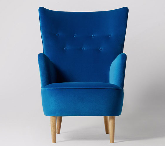 Midcentury-style Ludwig armchair range at Swoon Editions