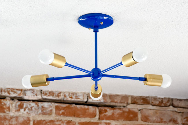 Midcentury-inspired chandeliers by Illuminate Vintage