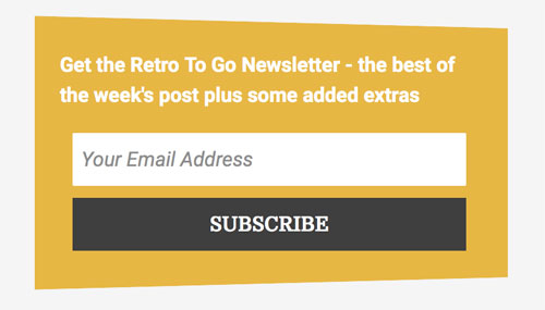 Retro in your inbox: Sign up to the all-new Retro To Go weekly newsletter
