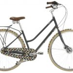 Orla Kiely Olive and Orange cycling and camping range at Halfords