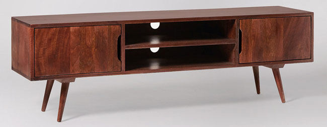Randall retro-style media unit by Swoon Editions