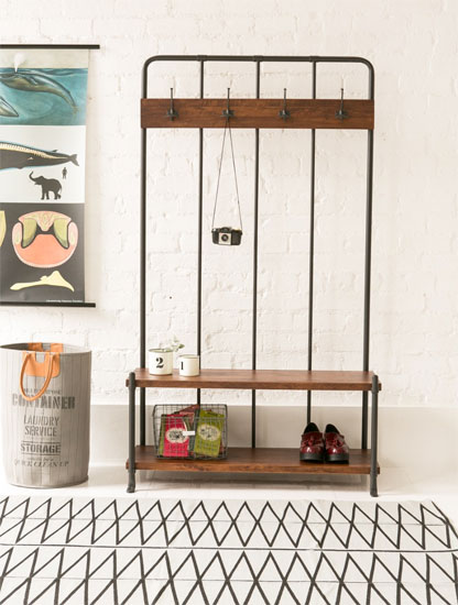 Vintage home: Old School Hall Rack at Rose & Grey