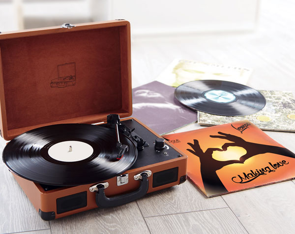 Aldi offers vintage-style suitcase record players for under £30