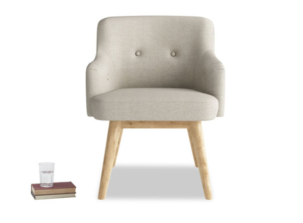 Handmade midcentury-style Smudge desk chair at Loaf