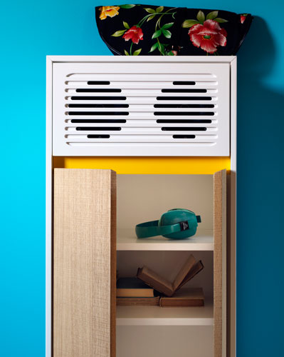 Miniforms midcentury-style Skap sideboards with built-in audio