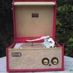 1962 Dansette Tempo record player in classic red