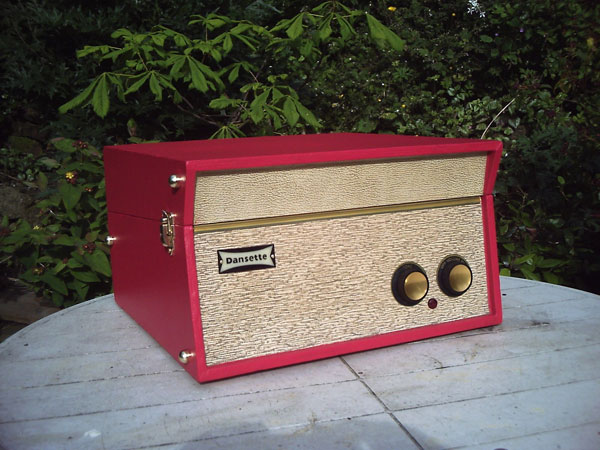 1962 Dansette Tempo record player in classic red