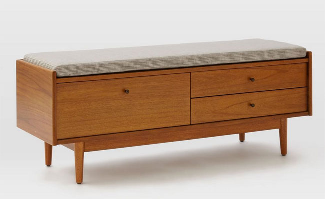 Mid-Century Entryway Bench by West Elm