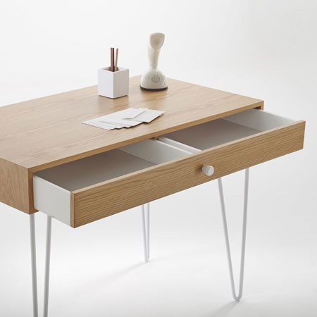 Adza one-drawer vintage desk at La Redoute