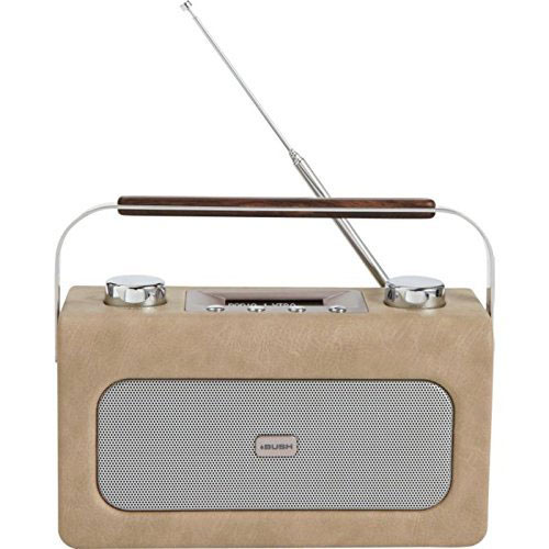 1960s-style Bush leather DAB radio