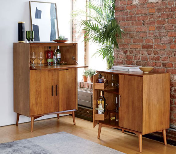 Mid Century Bar Cabinets At West Elm Retro To Go