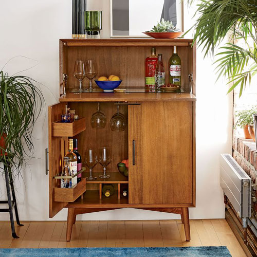 Mid Century Bar Cabinets At West Elm