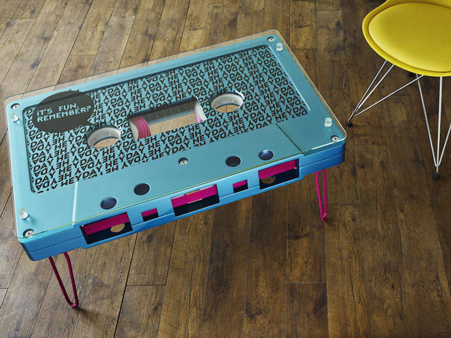 Super-sized tapes: Cassette coffee tables by Altar Furniture