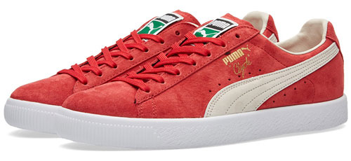 1970s Puma Clyde trainers get an archive reissue in three shades of suede
