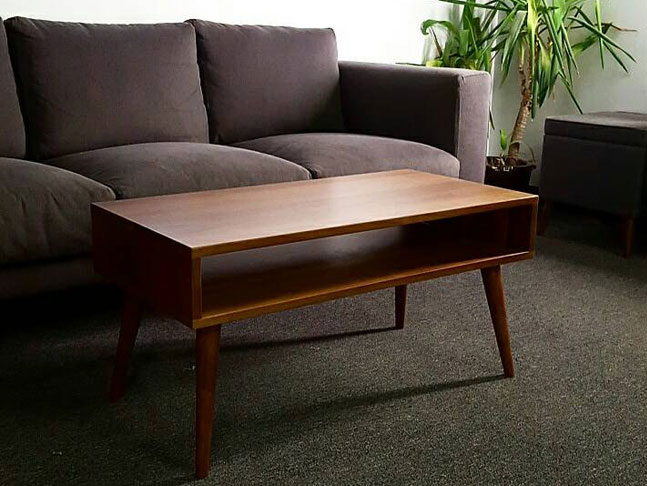 Midcentury-style coffee table by Flint Alley Furniture