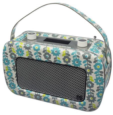 Vintage-style Kitsound Jive DAB/FM radio returns in a retro floral finish