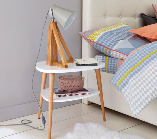 Midcentury bedroom: Jimi Vintage Bedside Table at La Redoute