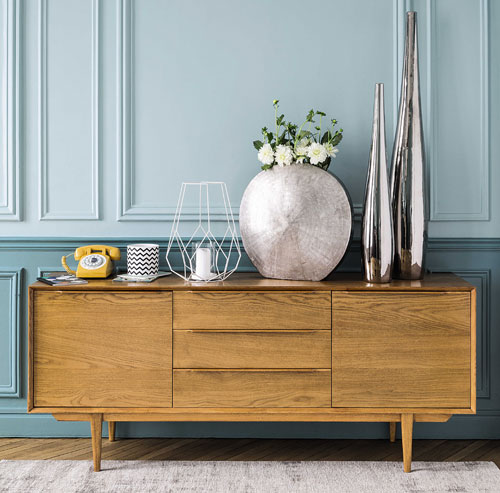 Midcentury style portobello long sideboard at maisons du monde retro to go - Buffet maison du monde ...