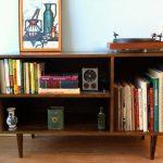 Handmade Danish-style media cabinet by Stor New York