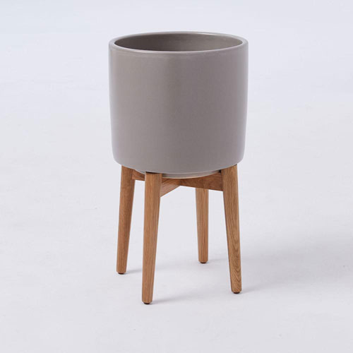New colours: Mid-Century Turned Leg Standing Planters at West Elm