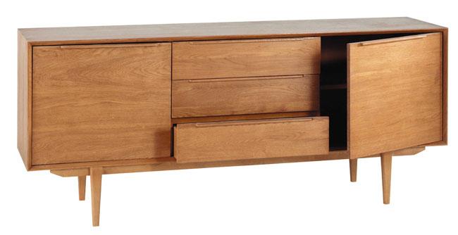 Midcentury-style Portobello long sideboard at Maisons Du Monde