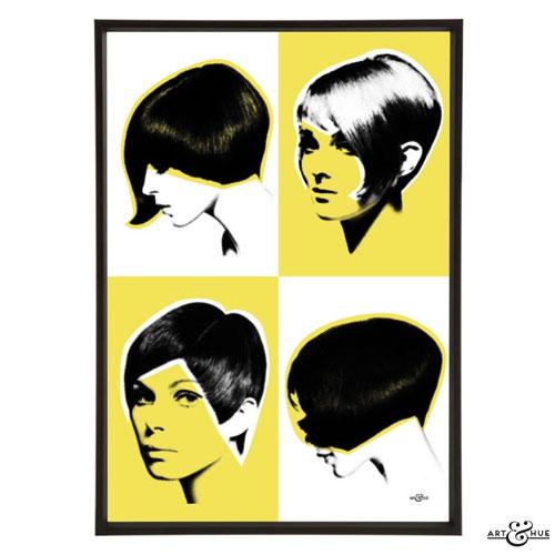 Mod Hair pop art collection from Art & Hue