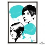 Mod Hair pop art collection from Art & Hue