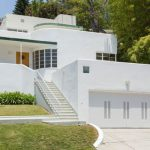 1930s Milton J. Black-designed streamline moderne property in Los Feliz, California, USA