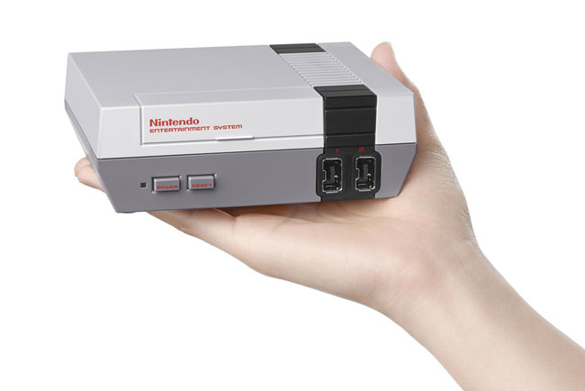 Nintendo reissues the classic NES console in miniature form with 30 games