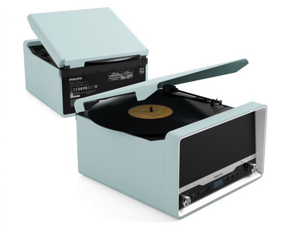 1960s-style Philips OTT2000 record player with CD player and Bluetooth