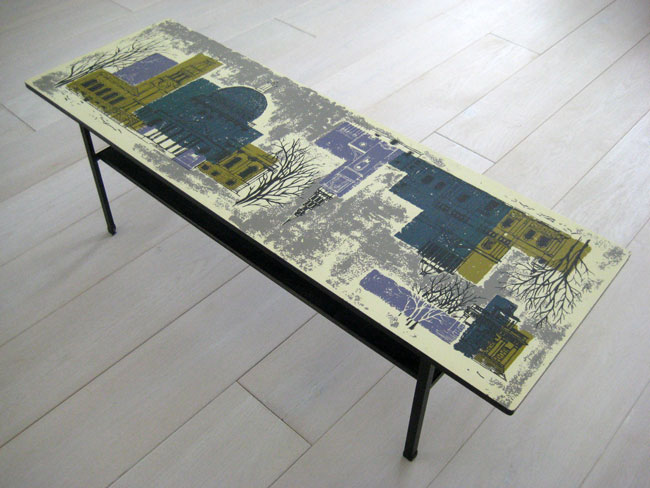 Vintage John Piper coffee table by Myer