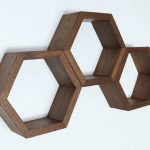 Retro-style hexagonal shelving by Haase Handcraft