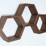 Retro-style hexagonal shelving by Haase Handcraft