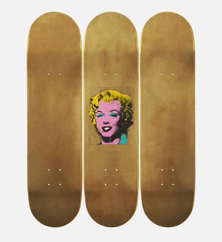 The Skateroom x The Andy Warhol Foundation limited edition skateboard decks