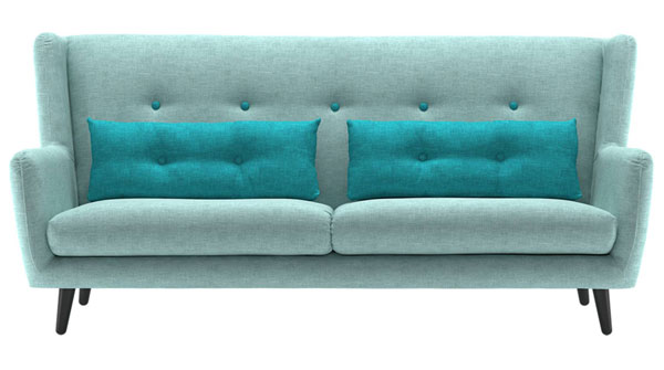 Midcentury-style Stockholm sofa and armchair at Sofology