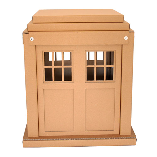 Doctor Who Tardis cat house by Cacao Furniture