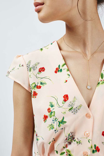 1940s-style floral tea dress at Topshop