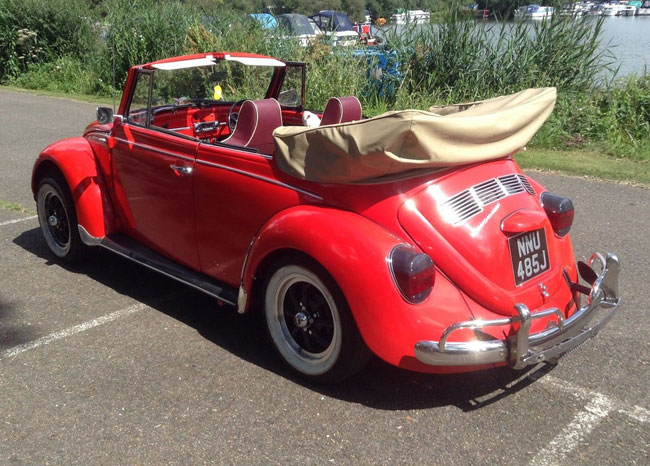 Fully restored 1971 Volkswagen Beetle Karmann convertible