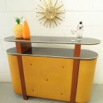 Vintage cocktail bar with storage