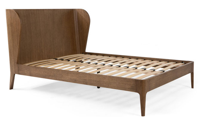 Retro bedroom: Belgrave midcentury-style bed at Made