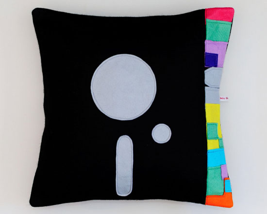 New Order Blue Monday cushion cover by Mrs Bojingles