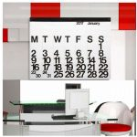 Back for 2017: 1960s Massimo Vignelli-designed Stendig wall calendar