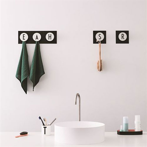 arne jacobsen design letters hook2 letter range. Black Bedroom Furniture Sets. Home Design Ideas