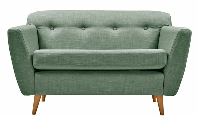 Jacob midcentury-style sofa and armchair range by Divani