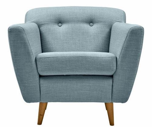 Jacob midcentury-style sofa and armchair range by Divani