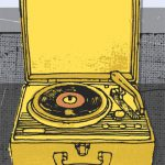 Vintage Record print by Kavel Rafferty at Habitat